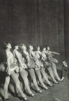 Erik Charell repeating with dancers in a music hall, 1925 - Berlin During The 1920s  Best of Web Shrine