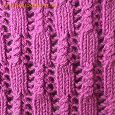 Узор для вязания спицами Ершики