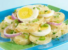 Letný zemiakový šalát Salad Recipes, Healthy Recipes, Healthy Food, Whole Wheat Pizza, Kids Cooking Recipes, Cottage Cheese, Potato Salad, Side Dishes, Salads