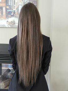 straight long brown hair