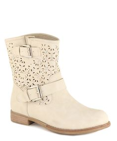 This Beige Clayton Cutout Boot by Anna Shoes is perfect! #zulilyfinds