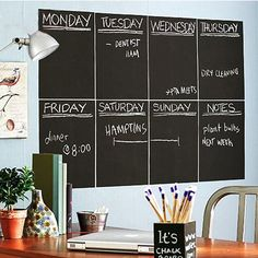 20cm *30cm *8cm blackboard Wall Sticker Removable Send a chalk office Home Decoration New Year gifts