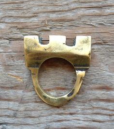 Castle ring made of solid brass or sterling silver by RingTheRing