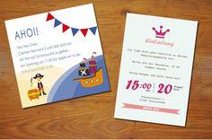 Individuelle Einladungen zum Kindergeburtstag #Geburtstag #Einladung #Kindergeburtstag #Party #Pirat