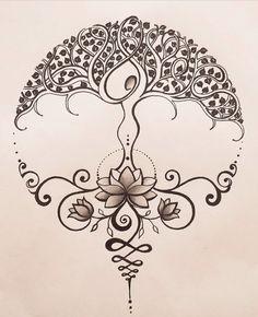 Lotusblume Tattoo, Lotus Tattoo, Tattoo Life, Body Art Tattoos, New Tattoos, Tattoo Drawings, Cool Tattoos, Elfen Tattoo, Celtic Symbols