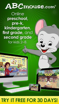 FREE 30 Day Trial for ABC Mouse - curriculum for Pre-k - Grade (referral Preschool Prep, Preschool At Home, Preschool Learning Activities, Preschool Activities, Teaching Kids, Kids Learning, Kindergarten Lessons, Interactive Learning, Abc Mouse