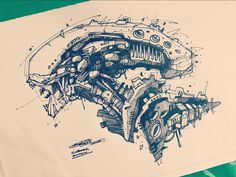 Another Alien by Artem Solop Aliens, Giger Alien, Science Fiction, Arte Cyberpunk, Alien Concept Art, Alien Design, Ink Pen Drawings, Alien Art, Epic Art