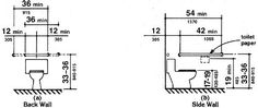 ada grab bar heights at water closet | Dailey Residence ...