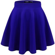 Thanth Womens Versatile Stretchy Pleated Flare Short Skater Skirt (1.090 RUB) ❤ liked on Polyvore featuring skirts, mini skirts, short skirts, mini skirt, blue circle skirt, flared skirt and pleated skater skirt