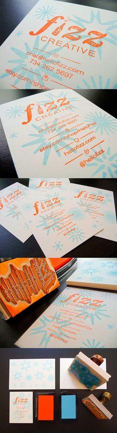 Creative Handmade Custom Stamped Business Card Design
