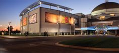 The Saint Louis Science Center has over 300,000 square feet of science and technology interactive exhibit space.