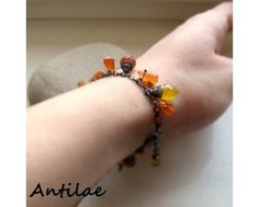 Autumn - karneol, chalcedon, oksydowane srebro - Antilae