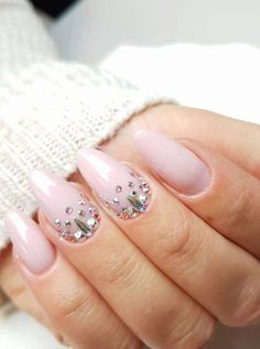 Gel Polish Natural by Monika Kaczmarek Indigo Educator #nails #nail #nailsart #blingbling #swarovski #pink #nude #indigo #indigonails #naturalnails