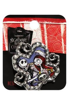 Amazon.com: The Nightmare Before Christmas Jack And Sally Stretch Ring: Clothing