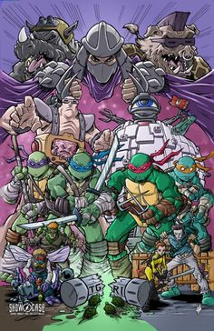 Original Comic Art titled Showcase Comic Books and Collectibles Kevin Eastman event print, located in Tim's Teenage Mutant Ninja Turtles Comic Art Gallery Ninja Turtles Art, Teenage Mutant Ninja Turtles, Shredder Tmnt, Rukia Bleach, Classic Cartoon Characters, Cartoon Wallpaper, Caricatures, Graphic, Comic Art