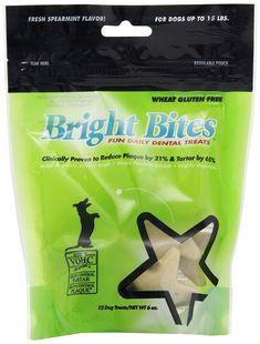 Bright Bites Daily Dental Dog Treats, Tasty Spearamint Small (4 Packs of 12 Treats) >> Check out this great image  : Dog treats