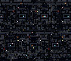 Mock Pacman 2.0 fabric by pixeldust on Spoonflower - custom fabric - COOL!