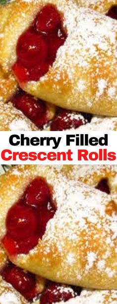 Cherry Desserts, Cherry Recipes, Fruit Recipes, Brunch Recipes, Easy Desserts, Delicious Desserts, Dessert Recipes, Cooking Recipes, Yummy Food