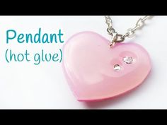 DIY crafts: PENDANT (hot glue) EASY - Innova Crafts - YouTube