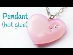 DIY crafts: PENDANT (hot glue) EASY - Innova Crafts - YouTube