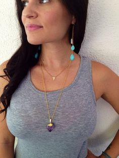 THE TURQUOISE TEARDROP Earrings //  Petite by ShopParadigm on Etsy, $34.00