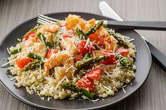 Shrimp & Asparagus with Lemon Quinoa