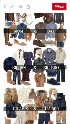 Have you already thought about what you'll wear for your annual family photo sessions? Well I'm here to help with a handy fall family photos clothing guide to get you … Fall Family Picture Outfits, Family Photo Colors, Family Portrait Outfits, Family Photos What To Wear, Winter Family Photos, Family Christmas Pictures, Family Posing, Fall Photo Outfits, Fall Family Portraits