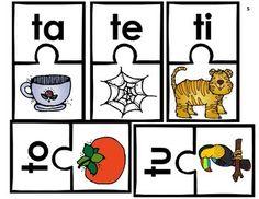 Aprendiendo a leer sílabas y palabras con t