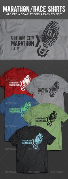 474440218 Race & Marathon Running Shirts - Sports & Teams T-Shirts Sport Shirt Design,