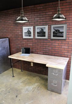 Amazing Tricks: Rustic Desk Computer rustic office home.Rustic Garden Home rustic vintage diy.Small Rustic Home. Office File Cabinets, File Cabinet Desk, Filing Cabinets, Cabinet Drawers, Rustic Office, Industrial Office, Industrial Lamps, Industrial Furniture, Vintage Industrial