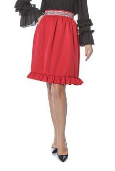 Fusta midi rosie FS84 -  Ama Fashion