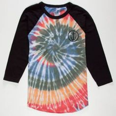 075c60252533a1 Captain Fin Tie Dye Mens Baseball Tee White Black In Sizes