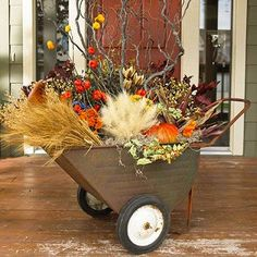 18 Classy Fall Decorating Projects • Great Ideas and Tutorials! including, from 'bhg', this beautiful fall doorstep container idea.