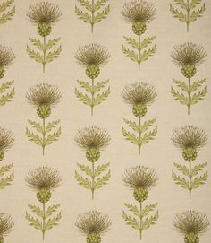 Thistle design fabric. This stylish fabric is great for creating a highland theme - see our how to section for ideas. Blair can also be used with Cairngorms. Check out our selection of balmoral tartans for coordinating fabrics. Made from a linen and cotton mix. A great upholstery fabric, would make a great statement chair. Can also be used as a cushion fabric or for roman blinds. Coordinating cushions also available. Buy online or visit one of our fabric shops in Burford, Oxfordshire ...