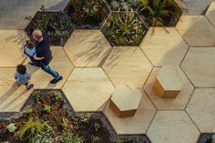 OFL Architecture turned a boring plaza into Zighizaghi, a multi-sensory urban garden in the town of Favara.