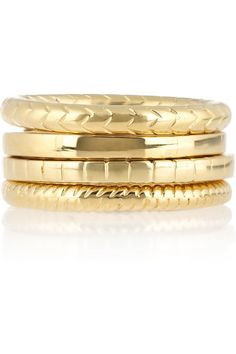 Saint Laurent gold-plated rings