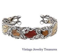 Carolyn Pollack Changing Seasons Autumn Sterling Cuff Bracelet New QVC