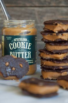 Chocolate Covered Pretzel Cookie Butter Sandwiches - What's Gaby Cooking