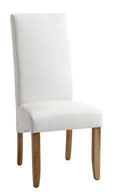 Spisebordsstol BAKKELY kunstlæder creme | JYSK