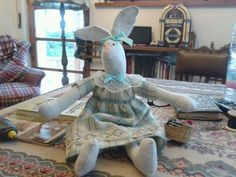 coniglietta di pezza#cucito creativo#creative sewing#easter#bunny