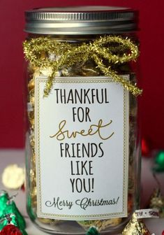 Cute saying to go on my favor for friends Xmas/thanksgiving