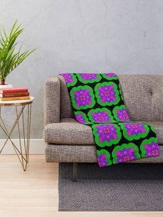 """Mandala Lotus Flower "" Throw Blanket by Pultzar 