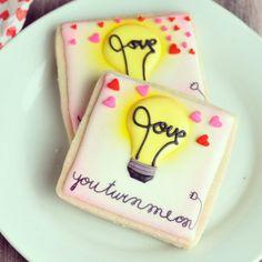 hanielas love cookies Valentín