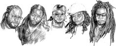 MorganHeritage  pencil drawing by Jayon'I print on teeshirt
