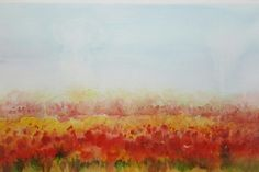"""""""Red Carpet"""", a water colour painting by a fine artist Bhanupratap Khare"""