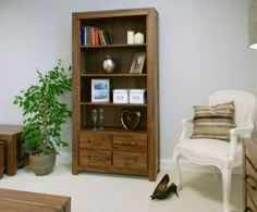 Mayan Walnut Large 4 Drawer Bookcase http://solidwoodfurniture.co/product-details-pine-furnitures-2984-mayan-walnut-large-drawer-bookcase.html