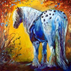 Appaloosa Gypsy Vanner Horse art original oil painting by Marcia Baldwin
