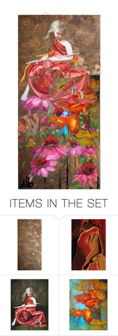 """View from the garden wall"" by onenakedewe ❤ liked on Polyvore featuring art"
