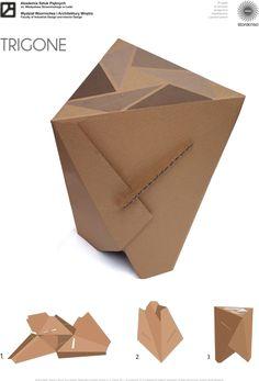 corrugated cardboard stool