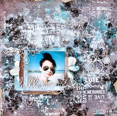 Hello - layout with Vintage moments collection from 13 arts - by Ayeeda #layout #mixedmedia #13arts